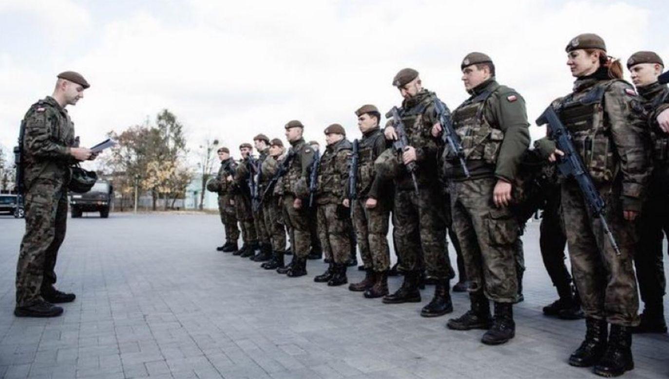 """Terytorialsi rozpoczęli ćwiczenia """"Osłona-21"""" (fot. tt/@mblaszczak)"""