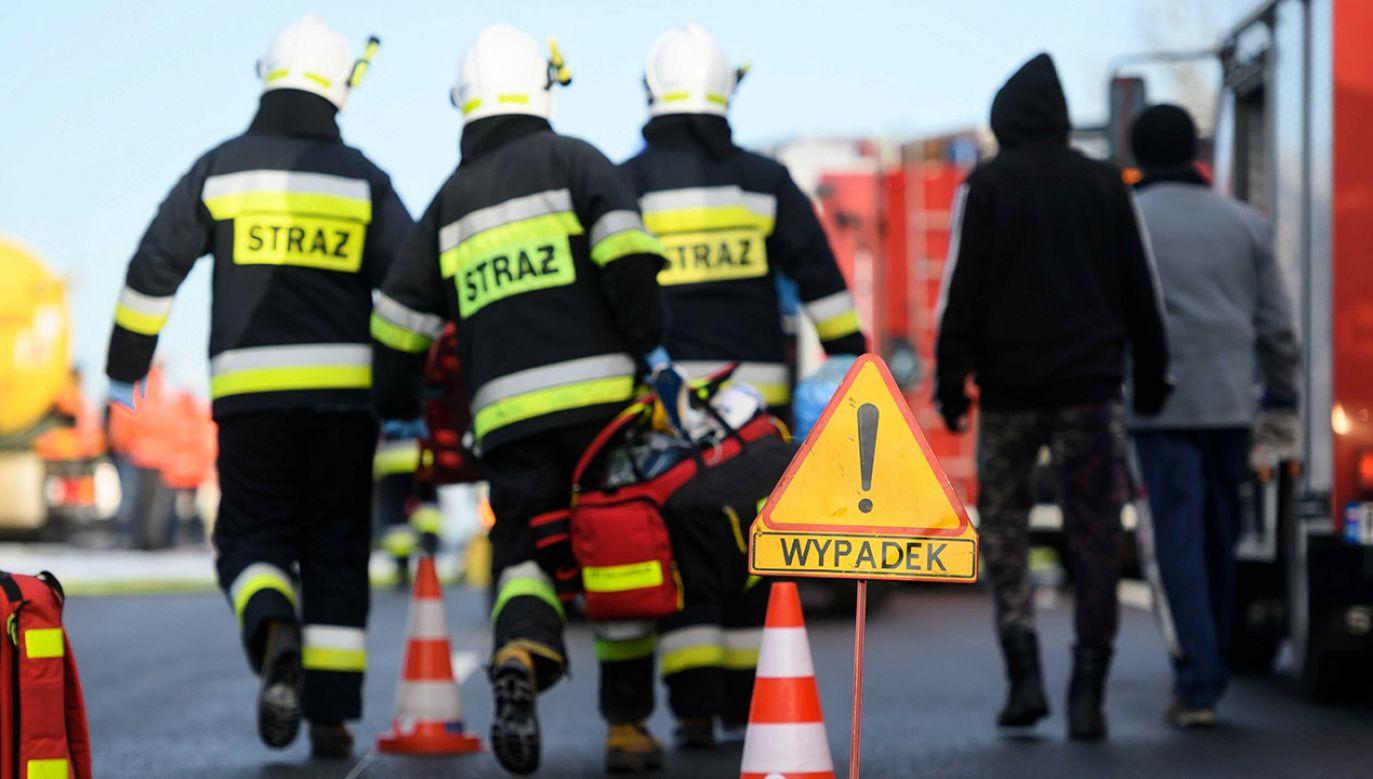 Przyczyny wypadku ustali policja (fot. PAP/Jakub Kaczmarczyk, zdjęcie ilustracyjne)