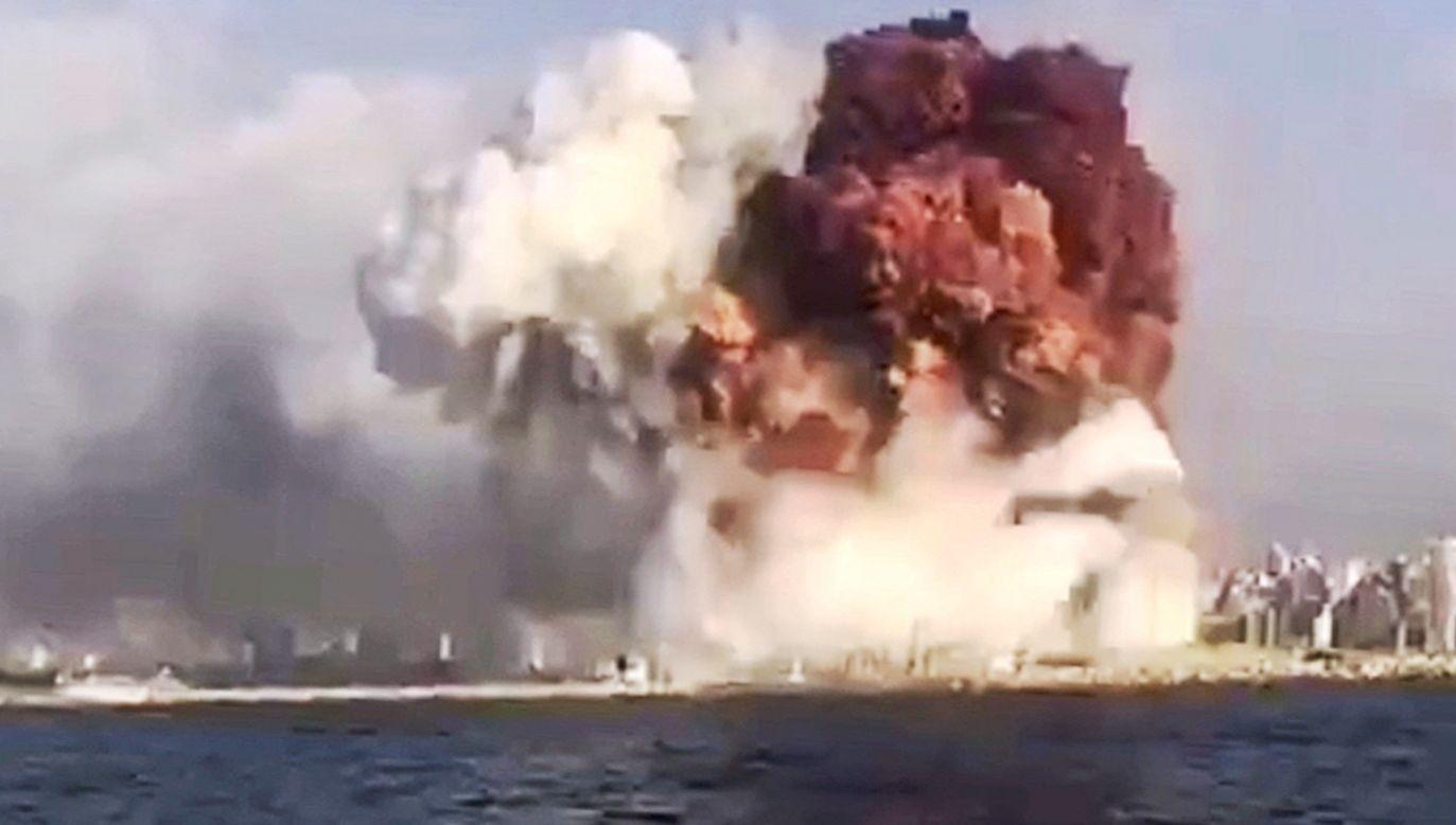 – Nawet w porównaniu do działań wojennych ta skala zniszczeń jest bezprecedensowa – ocenił wiceminister Jabłoński (fot. PAP/EPA/@tayyaraoun1)