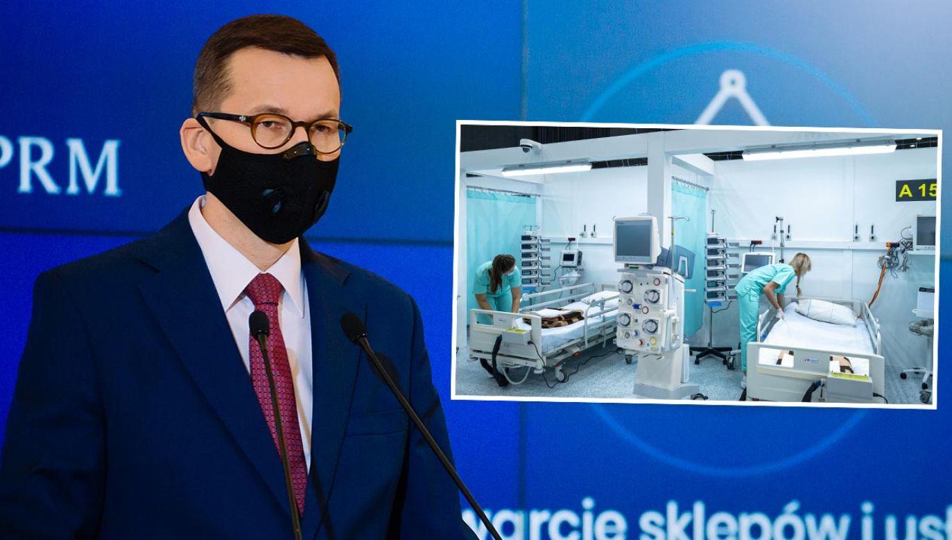 Premier Morawiecki odpowiadał na pytania podczas sesji Q&A na Facebooku (fot. Krystian Maj/KPRM; PAP/Andrzej Grygiel)
