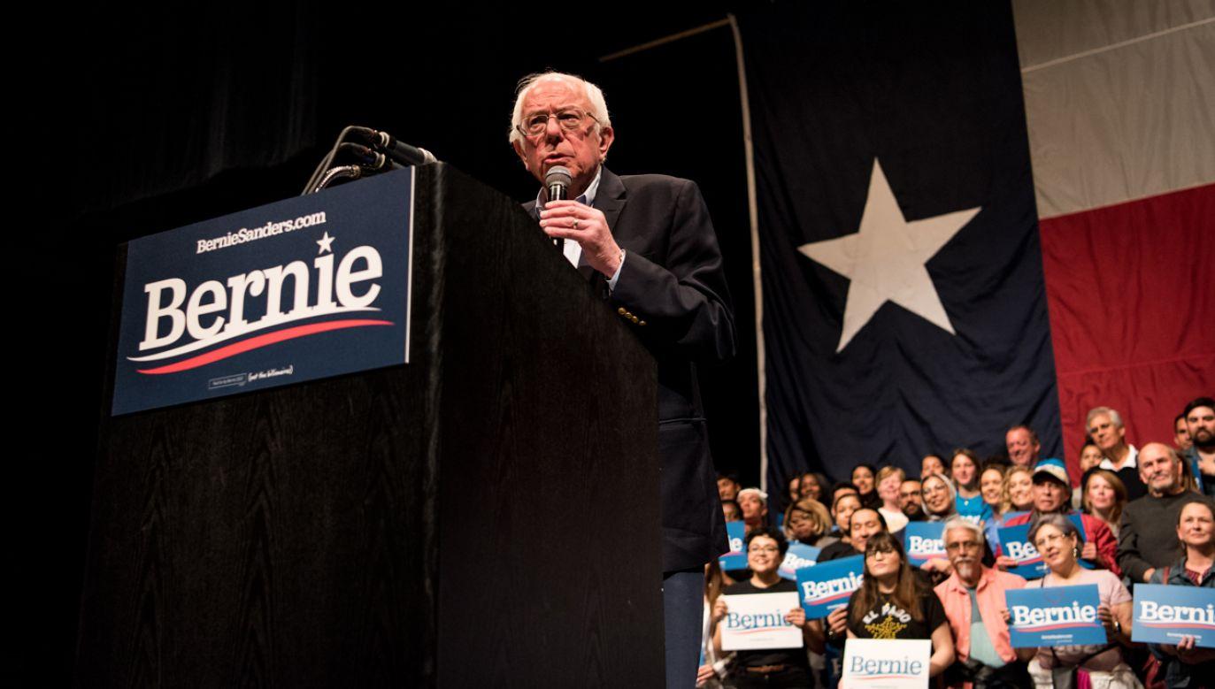 Senator Bernie Sanders jest liderem ogólnokrajowych sondaży Partii Demokratycznej i jednym z faworytów do uzyskania nominacji (fot. Cengiz Yar/Getty Images)