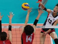 Song-Yi Han skutecznie omijała japński blok (fot. Getty Images)