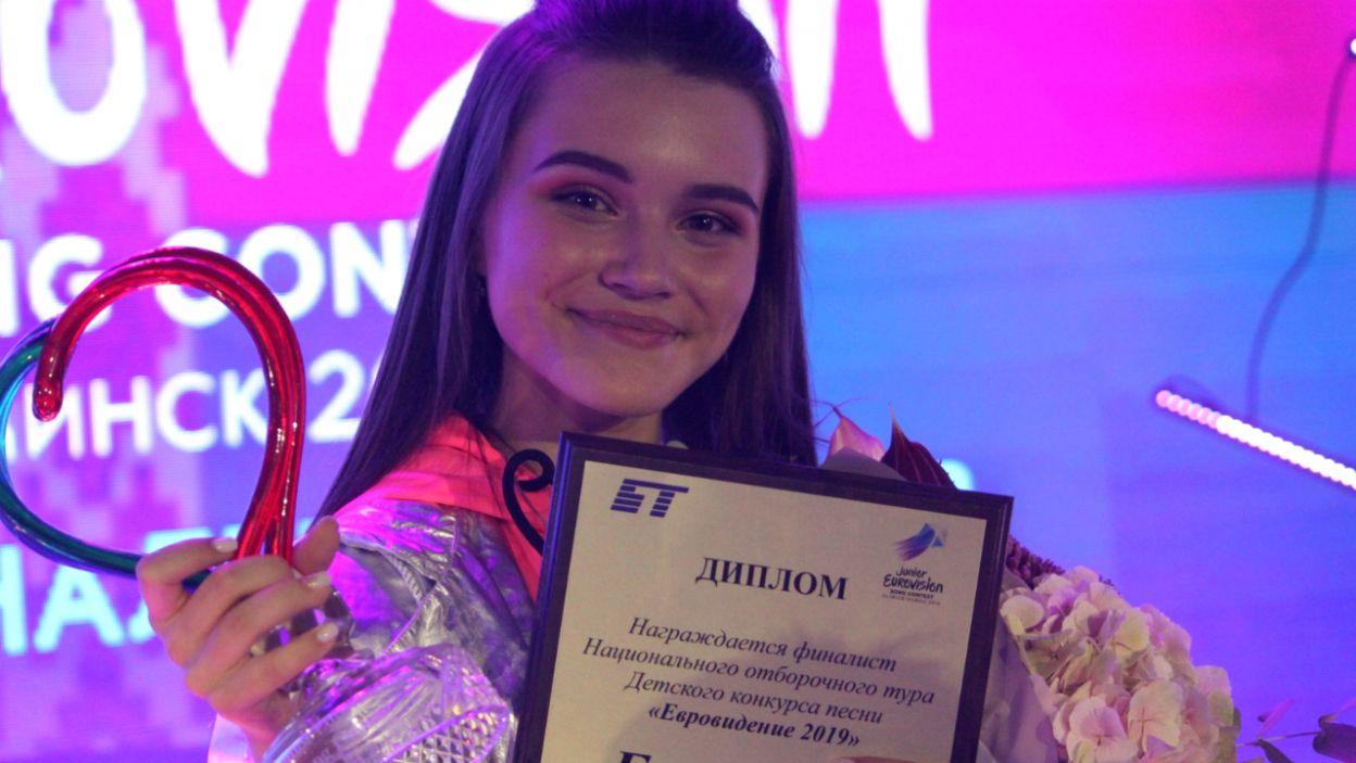 """Jelizawieta Misnikowa ma 14 lat i wygrała białoruskie eliminacje. W Gliwicach zaśpiewa utwór """"Piepielnyj"""" (fot. junioreurovision.tv)"""