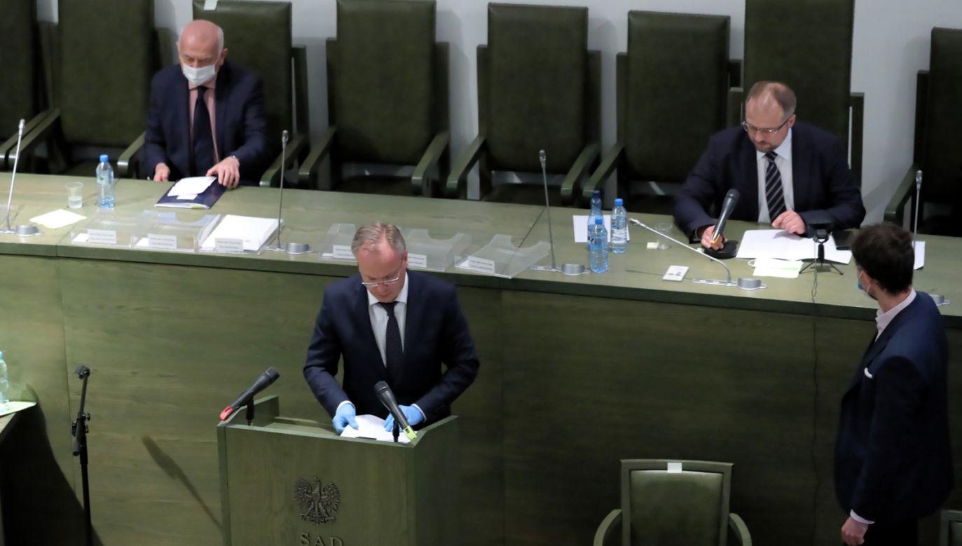Posiedzenie Zgromadzenia Ogólnego Sędziów SN (fot. PAP/Tomasz Gzell)