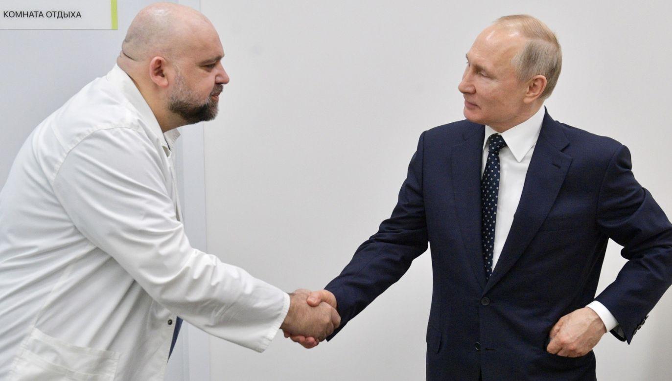 W miniony wtorek Procenko osobiście oprowadzał Putina po szpitalu (fot. PAP/EPA/ALEXEI DRUZHININ/SPUTNIK/KREMLIN POOL)