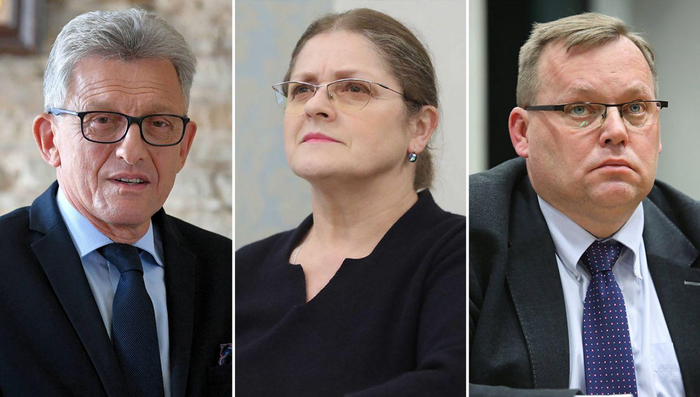 Stanisław Piotrowicz, Krystyna Pawlowicz i Jakub Stelina (fot. arch. PAP/Piotr Polak,Roman Zawistowski,Leszek Szymański)