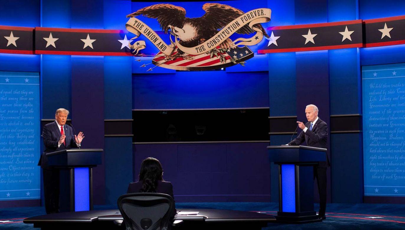 Donald Trump i Joe Biden starli się w Nashville (fot. PAP/EPA/SHAWN THEW)
