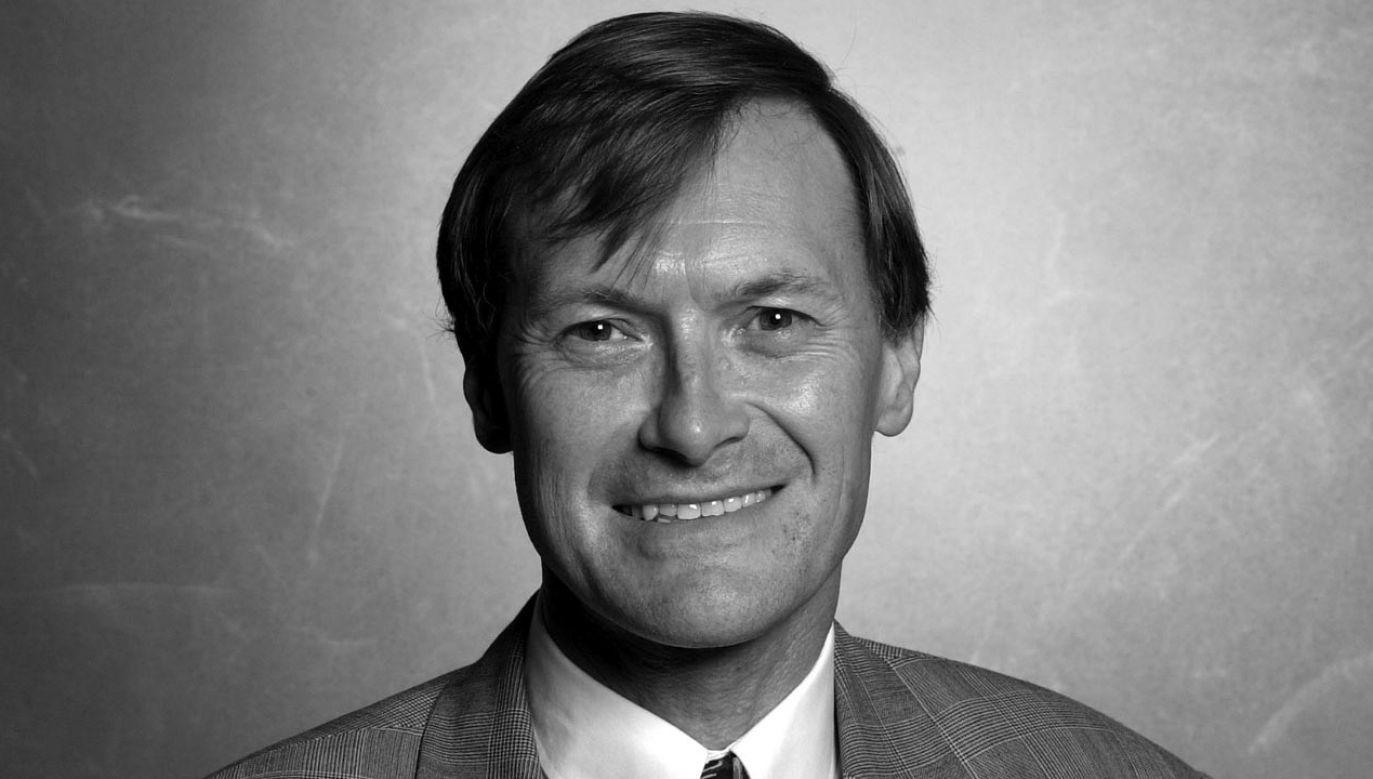 Poseł Partii Konserwatywnej David Amess został zabity w wieku 69 lat (fot. Jeff Overs/BBC News & Current Affairs via Getty Images)