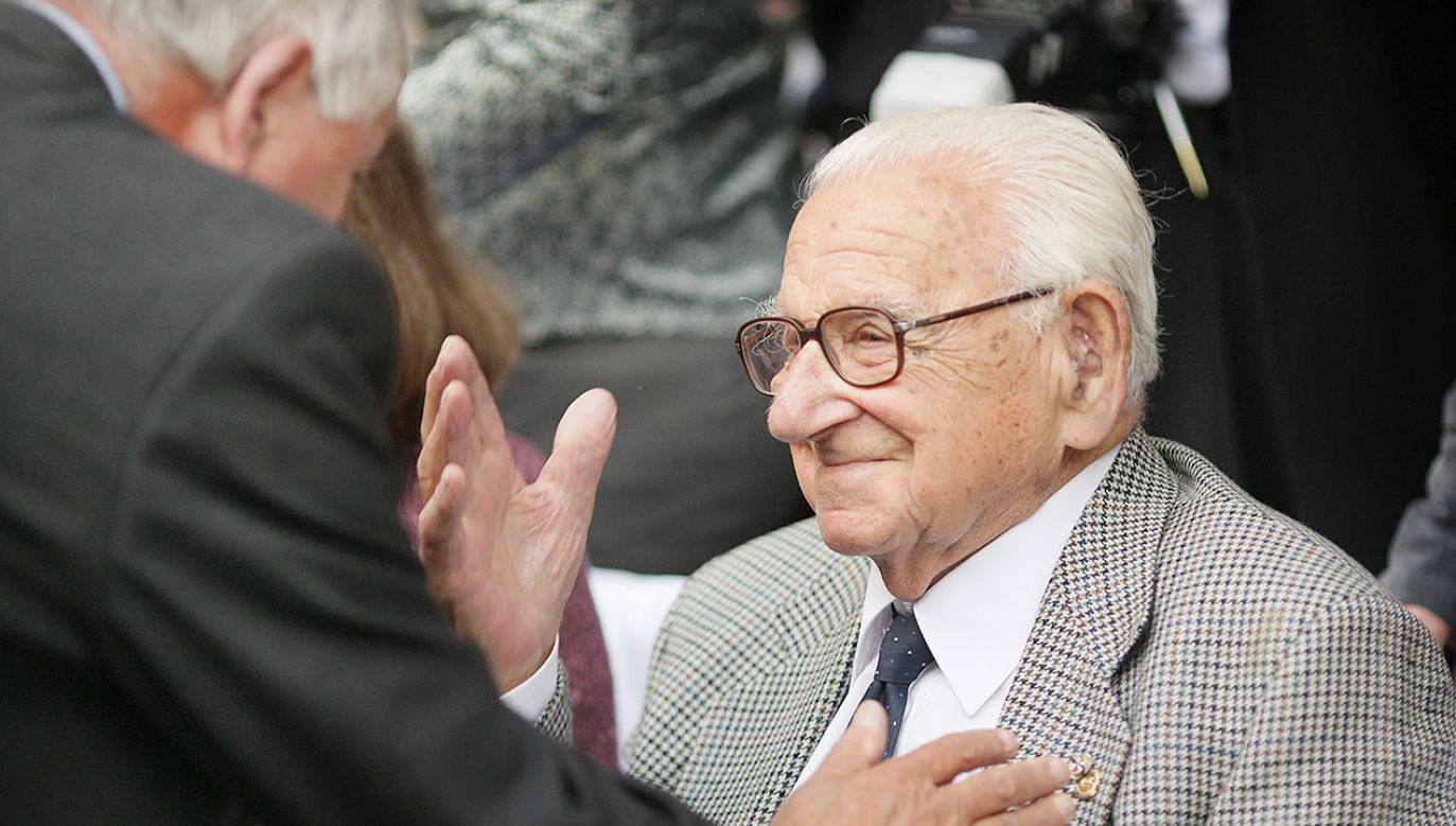 Sir Nicholas Winton (fot. Peter Macdiarmid/Getty Images)