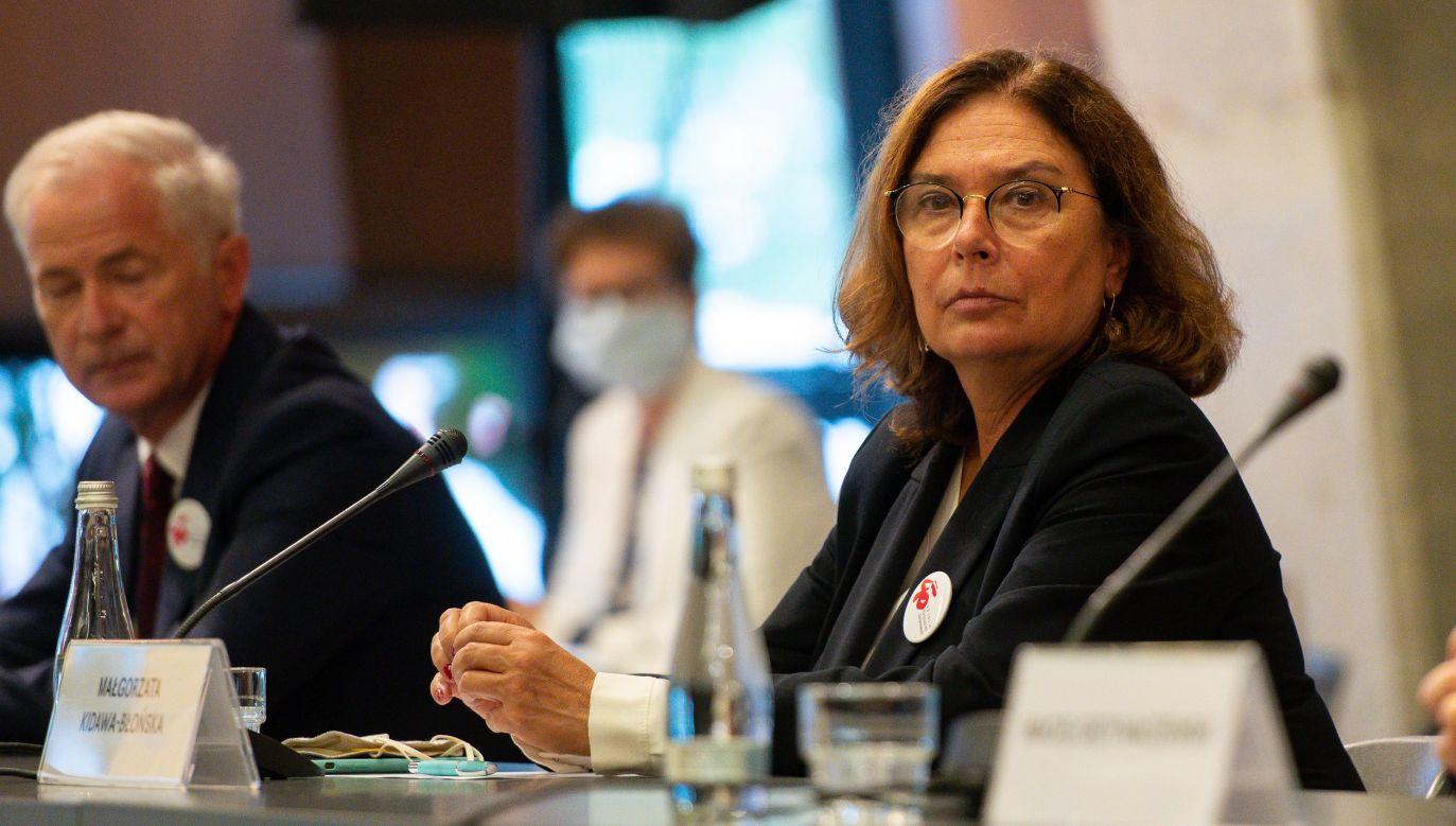 Małgorzata Kidawa–Błońska zerwała współpracę z mężczyzną (fot. Mateusz Slodkowski/SOPA Images/LightRocket via Getty Images)