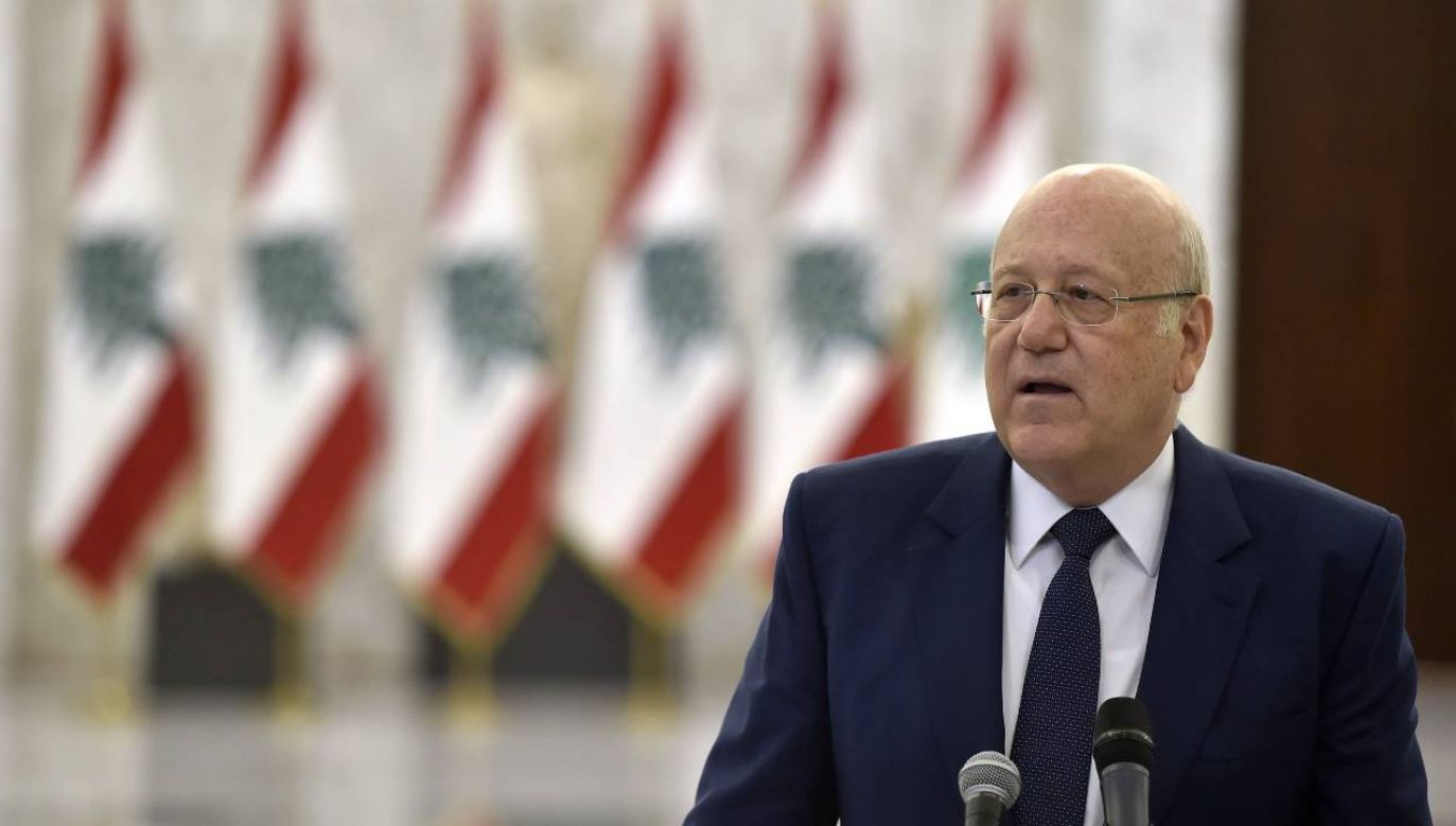 Nadżib Mikati był już dwukrotnie premierem Libanu (fot. PAP/EPA/WAEL HAMZEH)
