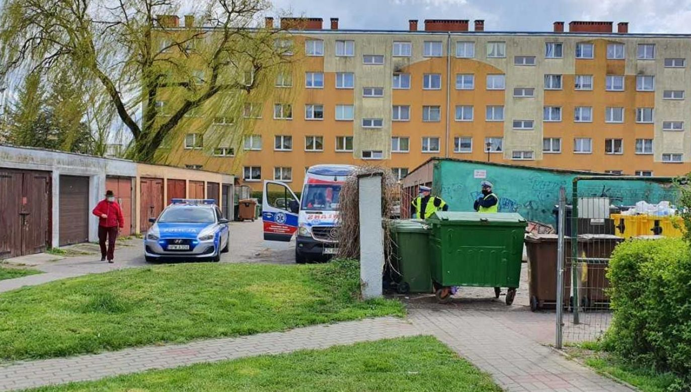 Na miejscu pracował prokurator (fot. Grzegorz GalantTVP3 Szczecin)