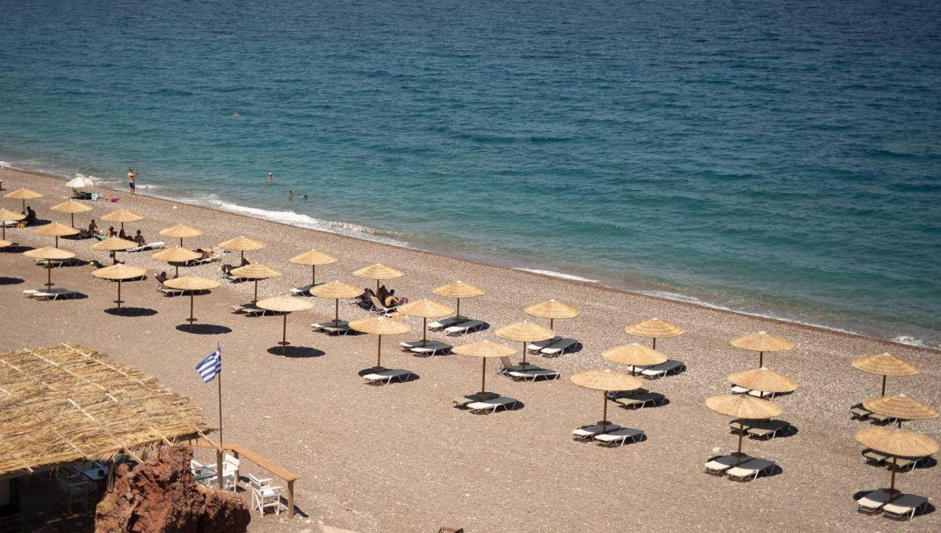 Turysta spędzał urlop w Grecji (fot. PAP/EPA/DIMITRIS TOSIDIS)