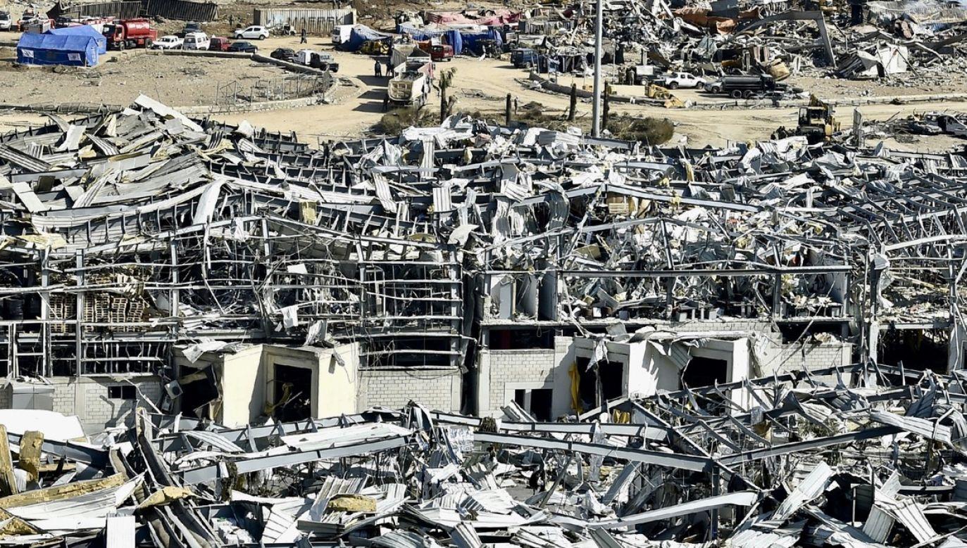W wyniku eksplozji w Bejrucie śmierć poniosło około co najmniej 145. Ponad 5000 zostało rannych (fot. PAP/EPA/WAEL HAMZEH)