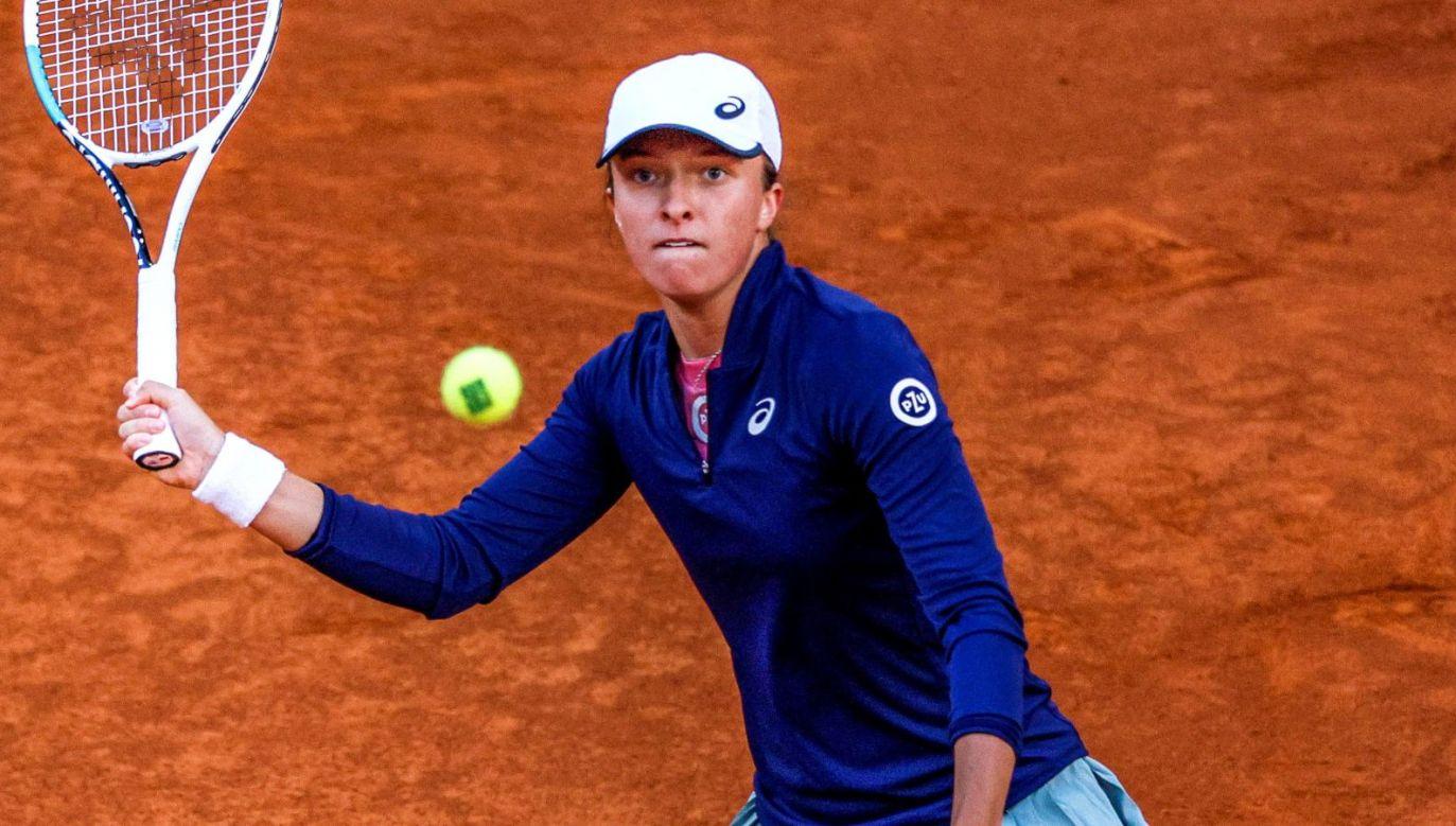 Iga Świątek zagra z Barborą Krejcikovą w czwartek o ćwierćfinał turnieju WTA w Rzymie (fot. PAP/EPA)