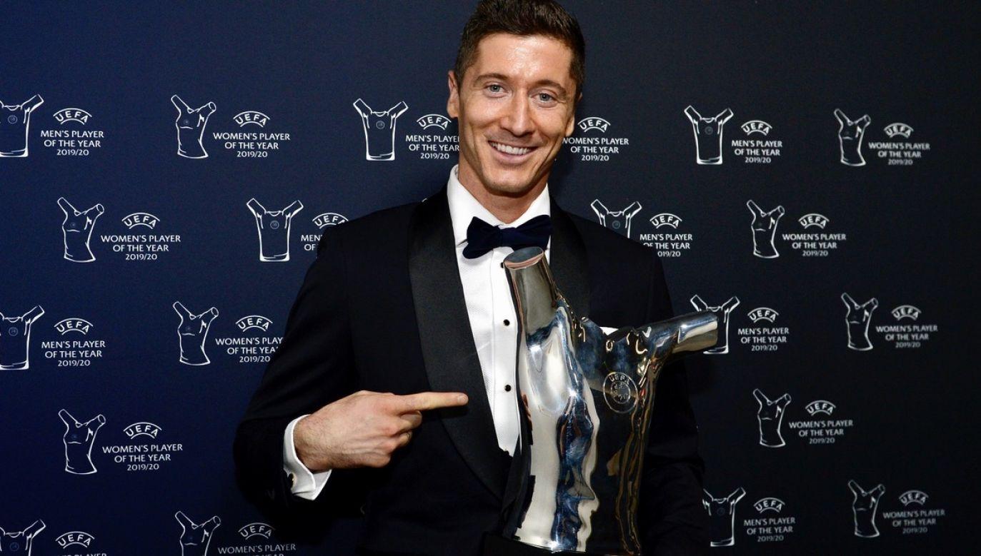 Robert Lewandowski to najlepszy ambasador Polski na świecie i osobna kategoria piłkarza – napisał premier Mateusz Morawiecki  (fot. PAP/EPA/Harold Cunningham/UEFA HANDOUT)