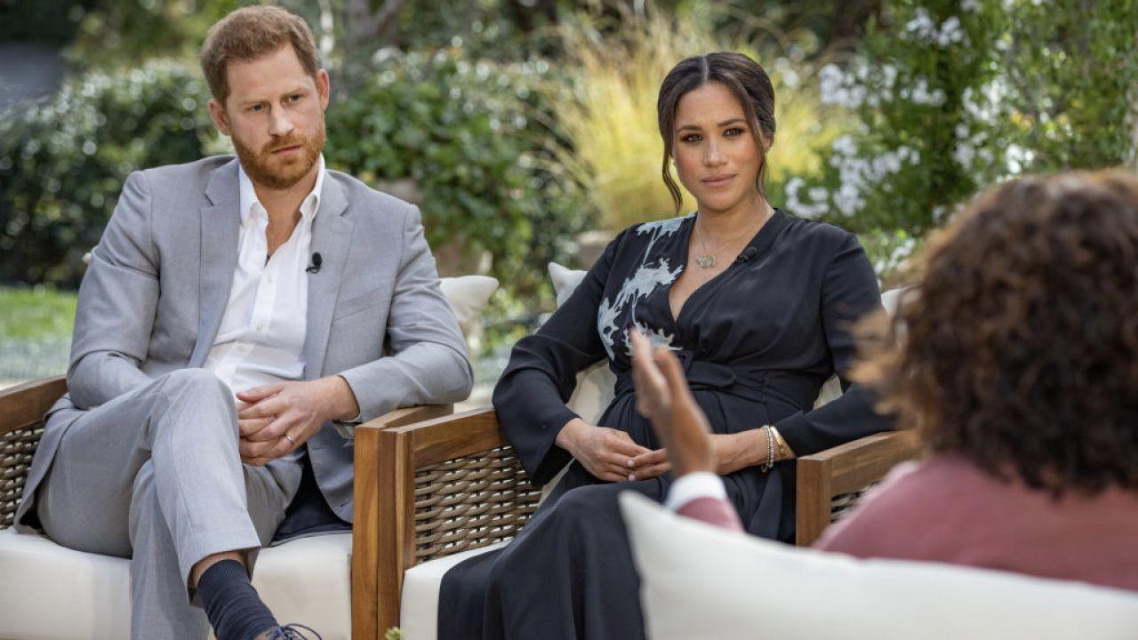 Książę Harry i Meghan Markle (fot. Harpo Productions/Joe Pugliese via Getty Images)
