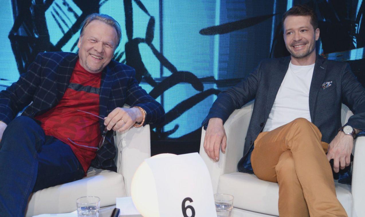 Do intelektualnej rozgrywki przystąpili także Jacek Lenartowicz i Andrzej Młynarczyk (fot. TVP/ Jan Bogacz)