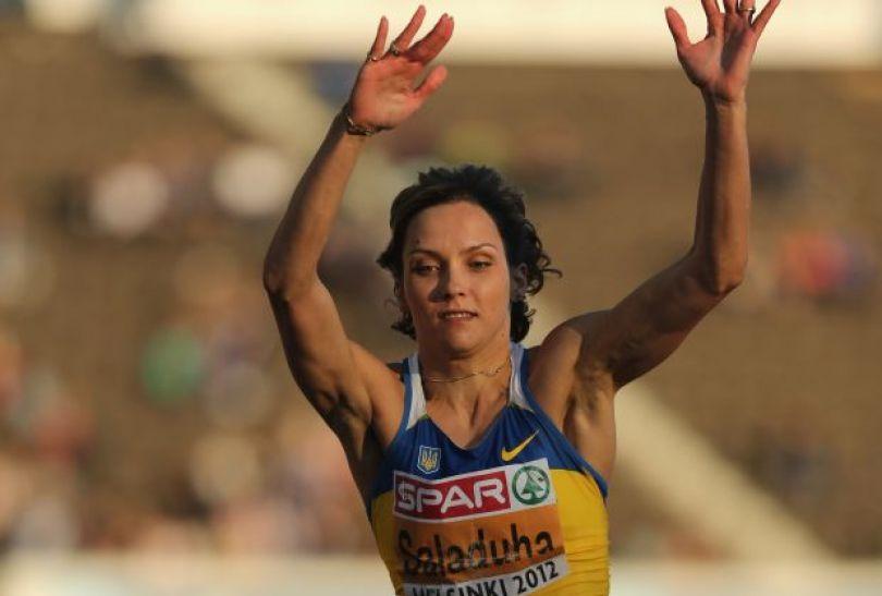 Ukrainka Olha Saładuha wygrała konkurs trójskoku (fot. Getty Images)