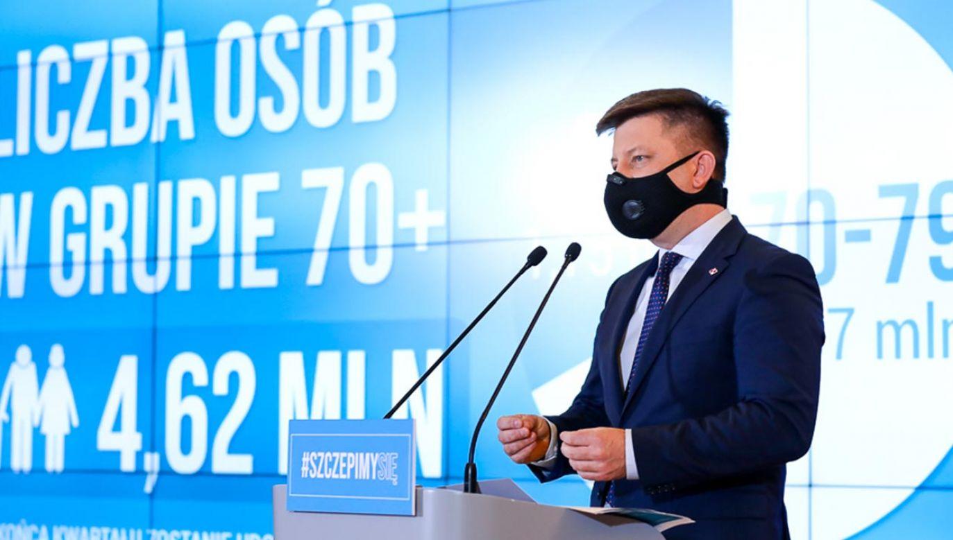 Minister Michał Dworczyk przedstawił zmiany w Narodowym Programie Szczepień (fot. Adam Guz/KPRM)