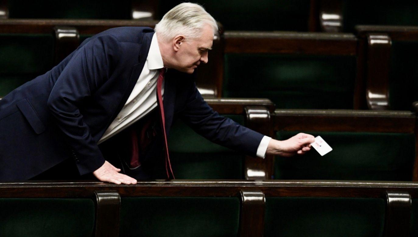 Gowin w liście do działaczy Porozumienia oświadczył, że jest świadomy, iż obecny czas to nie moment na konflikty i spory w rządzie (fot. PAP/Radek Pietruszka)