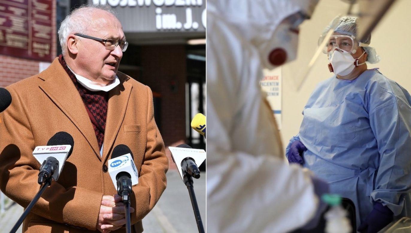 Prof. Simon o zagrożeniu (fot. PAP/Leszek Szymański, arch.PAP/Maciej Kulczyński))