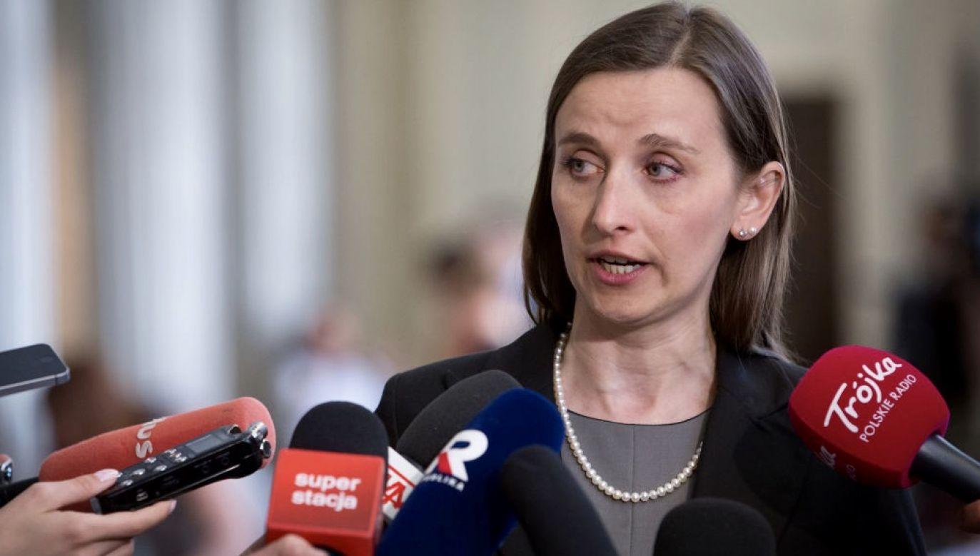 Sylwia Spurek domaga się odebrania unijnych funduszy Polsce (fot. Mateusz Wlodarczyk/NurPhoto via Getty Images)