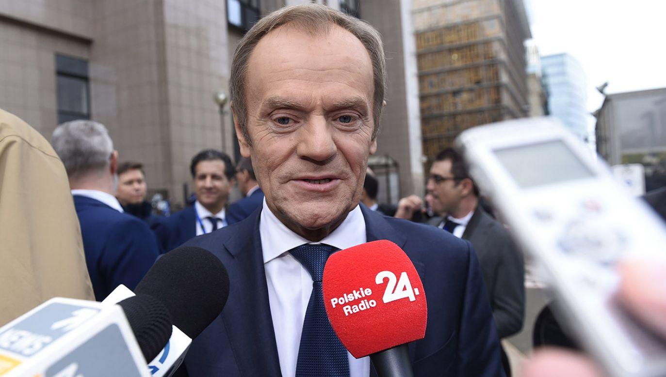 """Zdaniem Tuska, protestujący sędziowie """"zasługują na najwyższe uznanie"""" (fot. Didier Lebrun © Photo News via Getty Images)"""