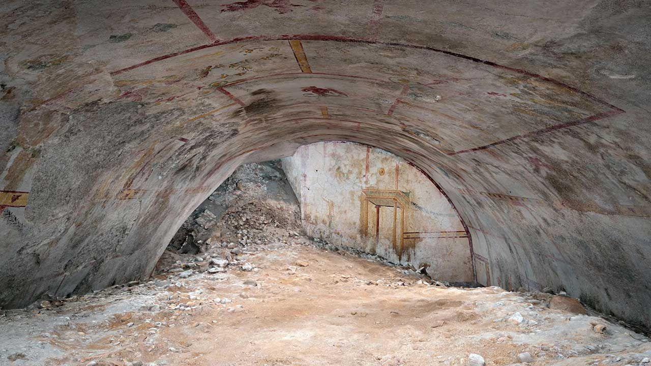 Na ślad komnaty natrafiono podczas prac archeologicznych na jesieni zeszłego roku (fot. PAP/EPA/FFICIO STAMPA PARCO ARCHEOLOGICO DEL COLOSSEO HANDOUT)
