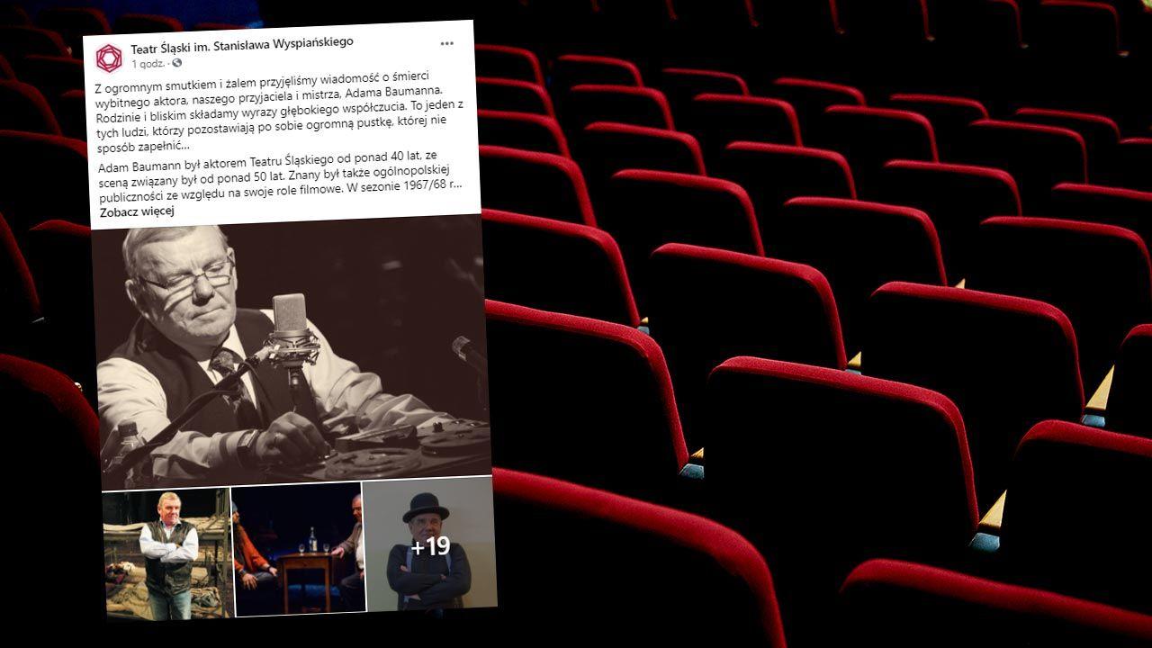 Adam Baumann był aktorem Teatru Śląskiego od ponad 40 lat (fot. Shutterstock/WladimirArt)