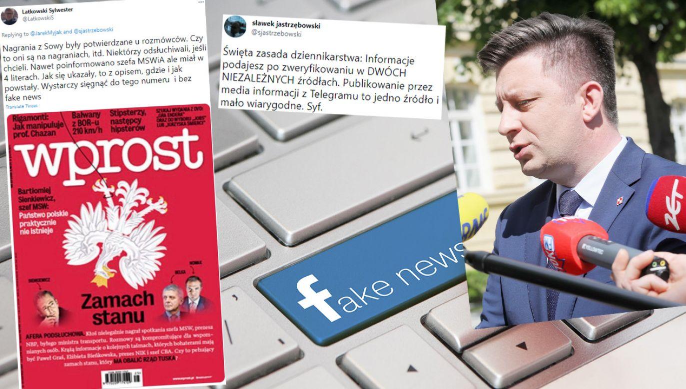 """Cyberatak do afery taśmowej porównuje m.in. """"Gazeta Wyborcza"""" (fot. Shutterstock; PAP/Paweł Supernak; TT)"""