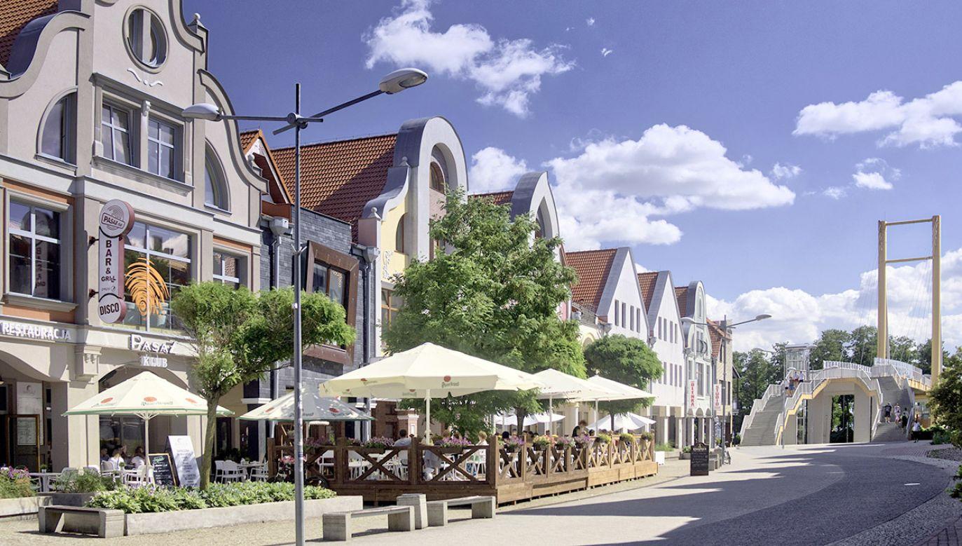 Giżycko, centrum miasta (fot. arch.PAP/Jerzy Ochoński)