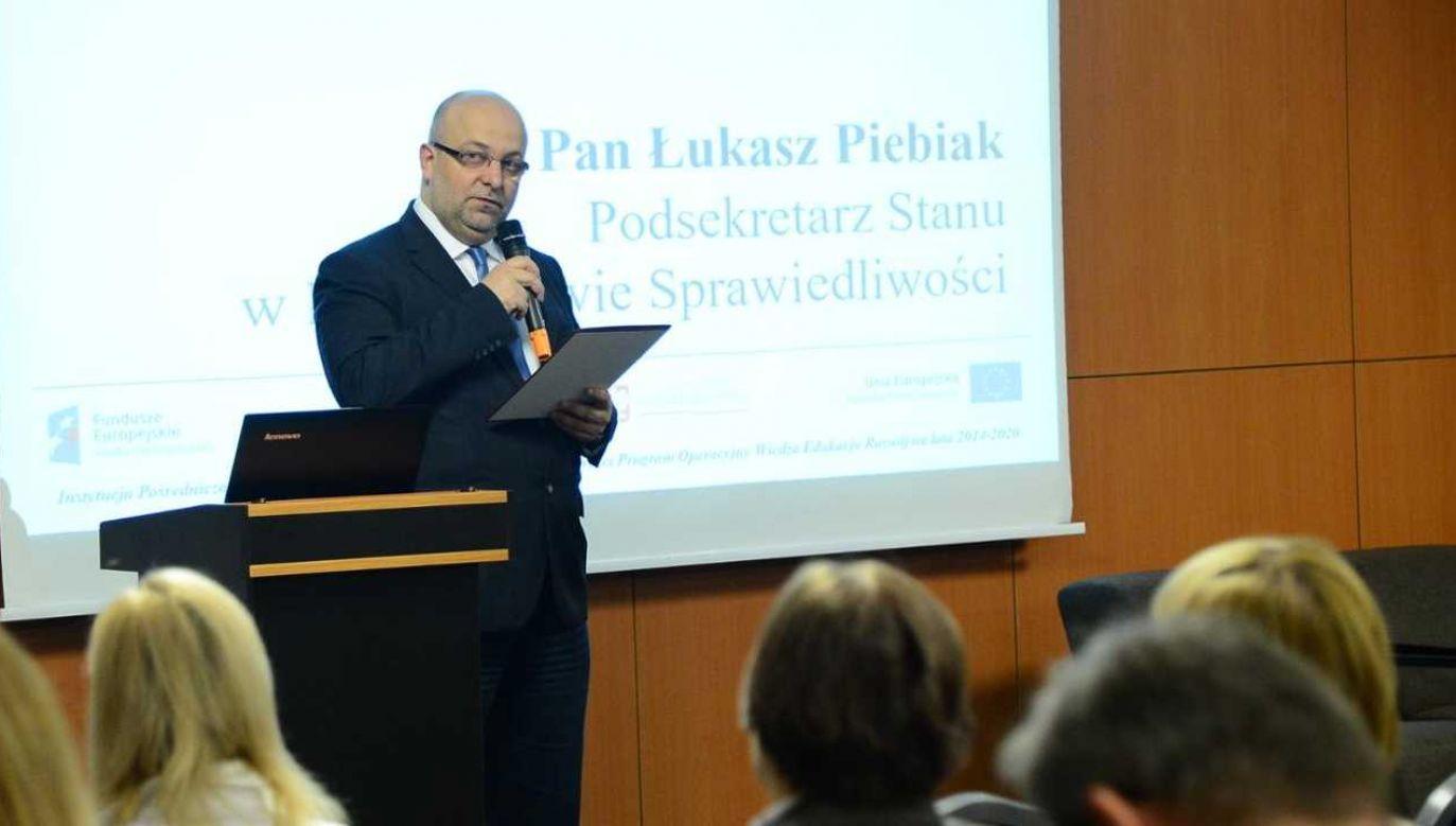 Łukasz Piebiak był podsekretarzem stanu w Ministerstwie Sprawiedliwości (fot. Gov.pl)