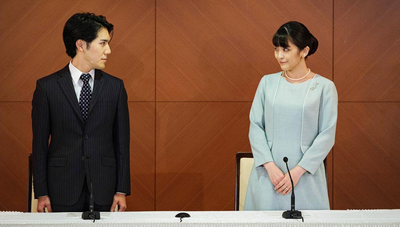 Mako wyszła za Kei Komuro (fot. PAP/EPA/Nicolas Datiche / POOL)