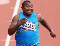 W biegu na 100 metrów wystąpił reprezentant Wysp Salomona Chris Meke Walasi (fot. Getty Images)