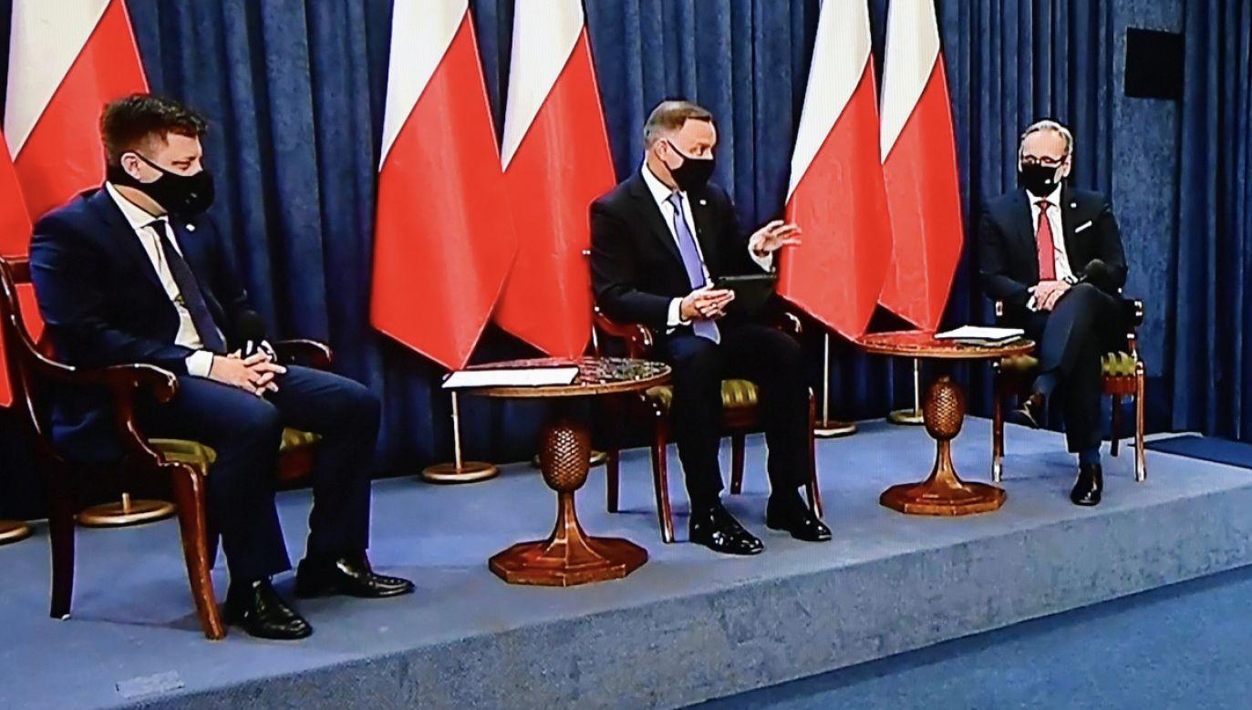 W Pałacu Prezydenckim odbyła się sesja pytań i odpowiedzi (fot. PAP/Piotr Nowak)