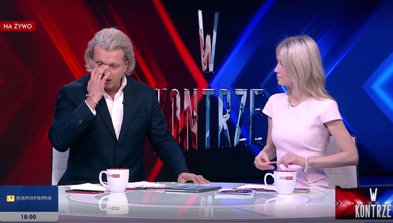 Aktor zaprzecza oskarżeniom o gwałt (fot.TVP Info)