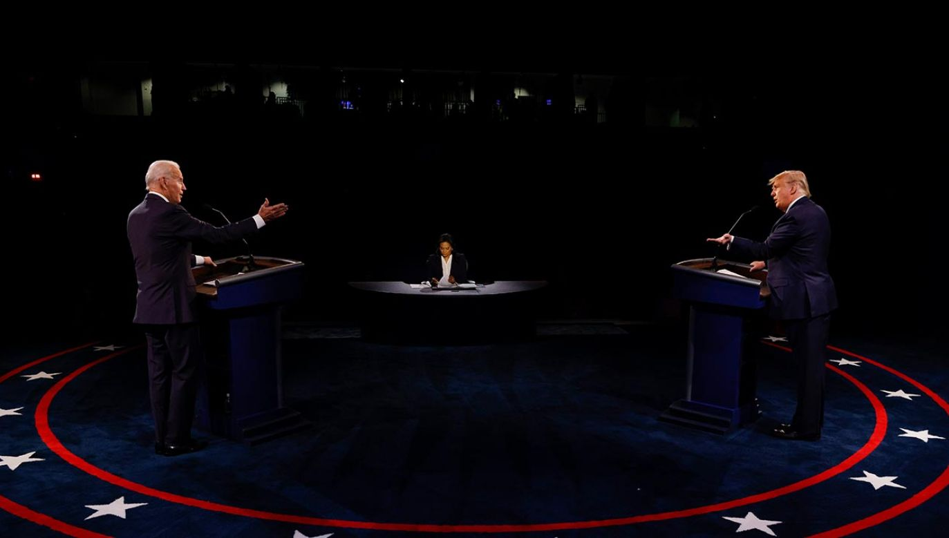 41 proc. Polaków uważa, że lepszym prezydentem Stanów Zjednoczonych byłby Donald Trump (fot. Jim Bourg-Pool/Getty Images)