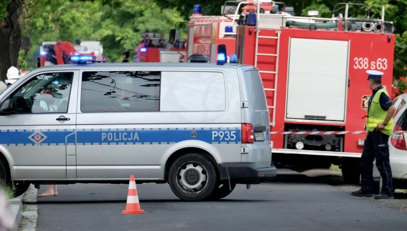 Trwa akcja ratunkowa (fot. PAP/Andrzej Grygiel, zdjęcie ilustracyjne)