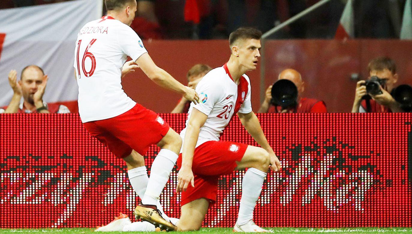 Bramka Piątka padła w 35. minucie spotkania. Potem Polacy strzelili jeszcze trzy gole (fot. REUTERS/Kacper Pempel)