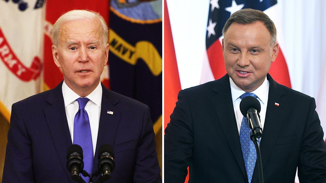 Czy prezydent Joe Biden zamierza rozmawiać z prezydentem Polski Andrzejem  Dudą - tvp.info