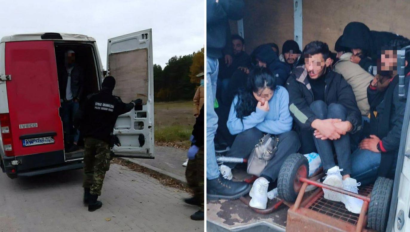 StrażGraniczna zatrzymała 27 obywateli Iraku (fot. Twitter/Straż Graniczna)