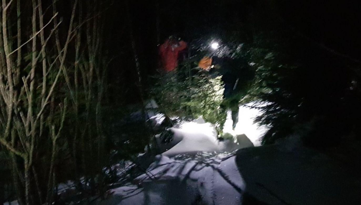 Turyści schodząc ze szczytu Młynarza zgubili się i znaleźli się w Dolinie Żabich Stawów (fot. Horská záchranná služba)