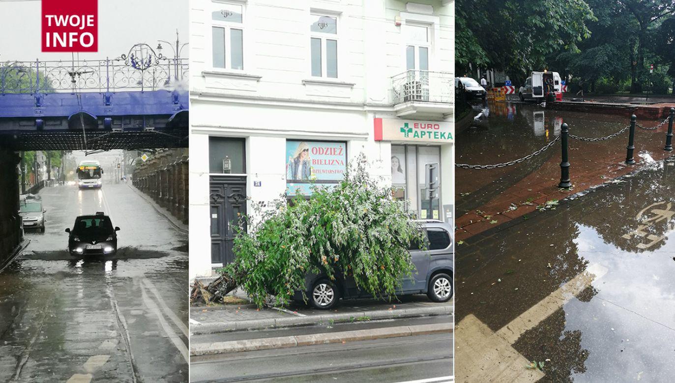 Nawałnica przeszła nad Krakowem (fot.Twoje Info)