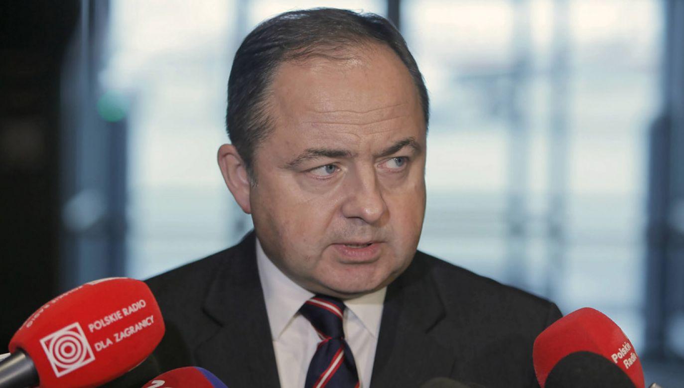 Premier wskazał Konrada Szymańskiego jako kandydata na ministra ds. europejskich (fot. PAP/Leszek Szymański)