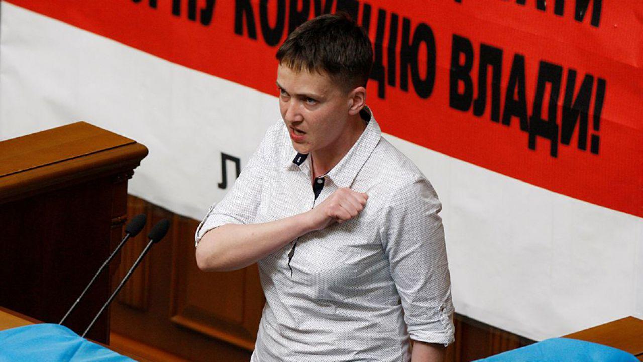 Nadia Sawczenko podziękuje za wsparcie (fot. Vladimir Shtanko/Anadolu Agency/Getty Images)