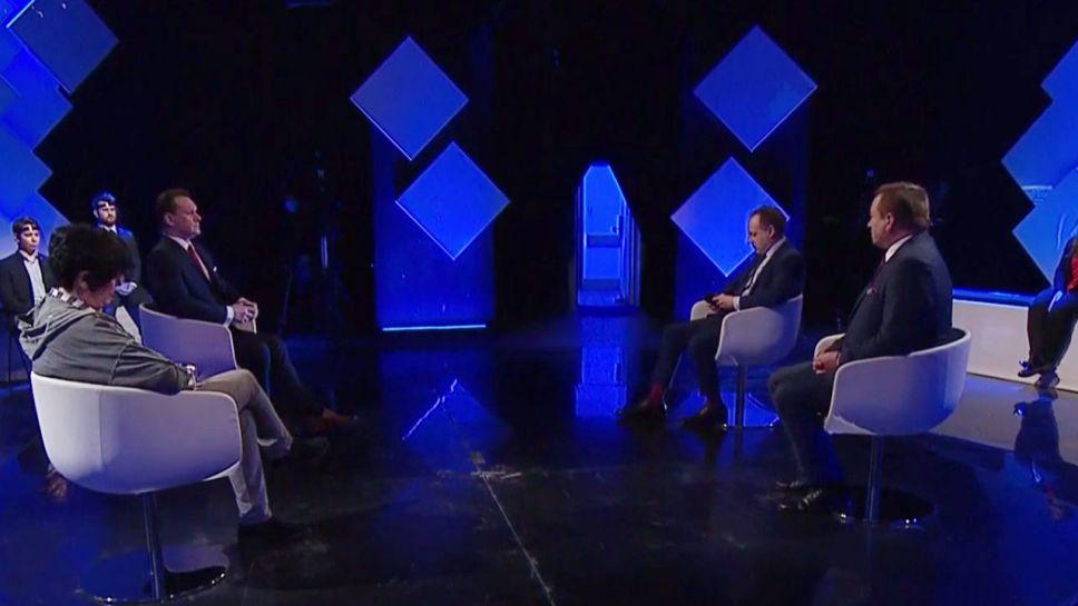 """Między innymi o szczepieniach w """"Strefie Starcia"""" (fot.TVP Info)"""