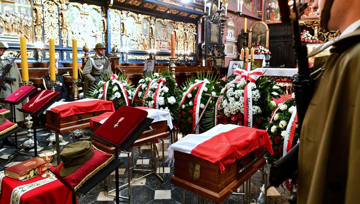 Ich szczątki zostały złożone w nowej Kwaterze Wojennej Żołnierzy Podziemia Niepodległościowego (fot.  PAP/Art Service 2)