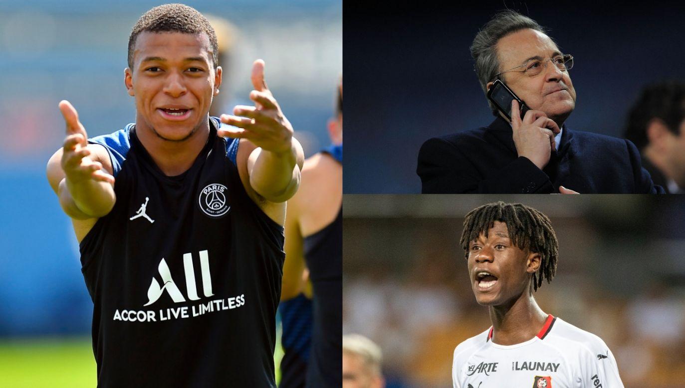 Kylian Mbappe i Eduardo Camavinga należą do celów transferowych Realu Madryt (fot. Getty Images)