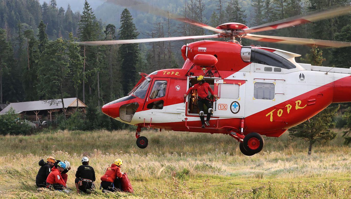Rok 2019 był dla ratowników TOPR rekordowy (fot. arch. PAP/Grzegorz Momot)